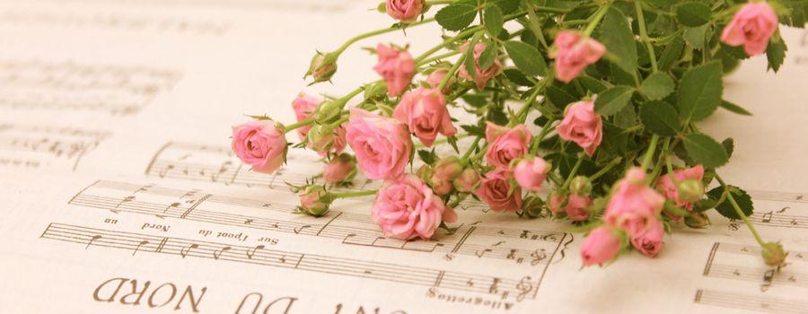 楽譜と花2